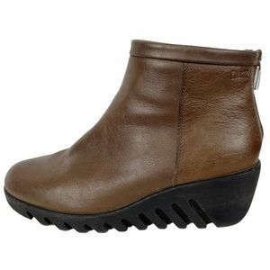 BANG Cougar Brown Waterproof Leather Wedge Bootie